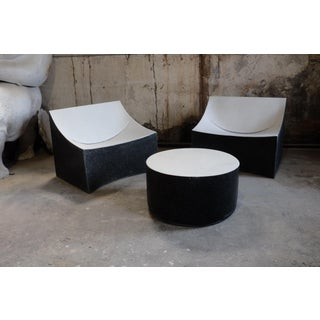 Cast Resin 'Millstone' Coffee Table, Bw Finish by Zachary A. Design Preview