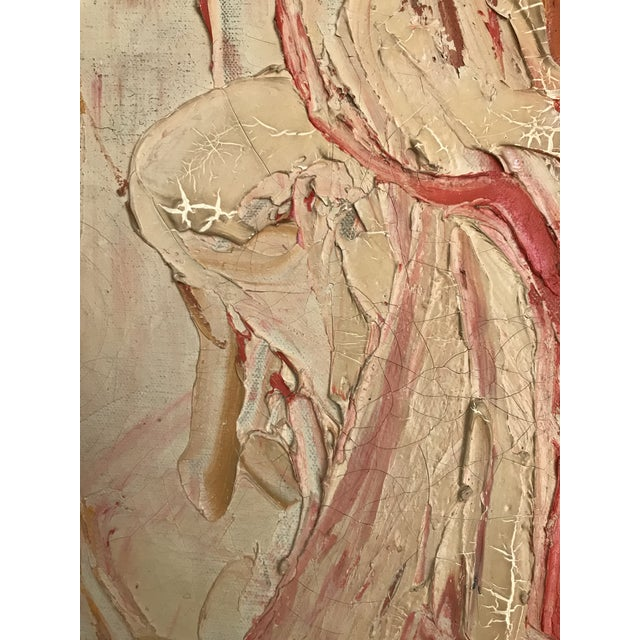 1961 Signed Abstract Expressionist Oil on Canvas Painting - Image 3 of 8