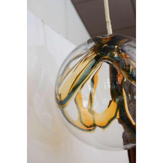 Gigantic Mazzega Murano Globe Hanging Light - Image 4 of 6