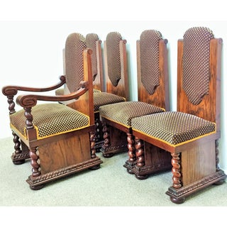 Walnut & Mahogany Dining Chairs - Set of 5 Preview