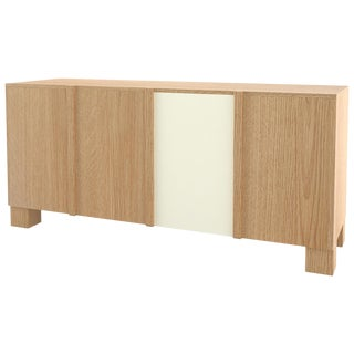 Contemporary 100 Sideboard in Oak and White by Orphan Work, 2019 For Sale
