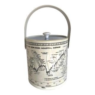 1960s Mid-Century Cera Dow Jones Stock Market Ice Bucket For Sale