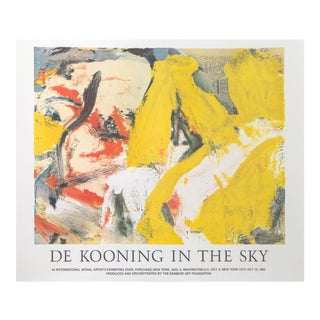 "Willem De Kooning, ""In the Sky"", Exhibition Poster For Sale"