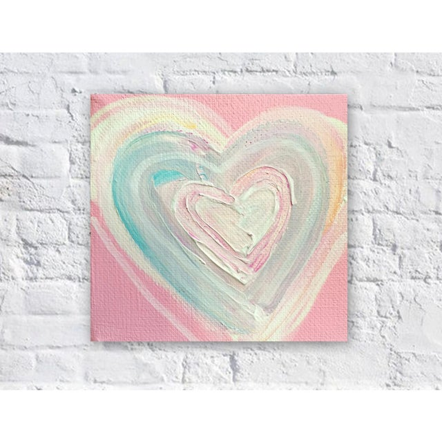 'Cotton Candy Heart' Original Painting by Linnea Heide - Image 4 of 4