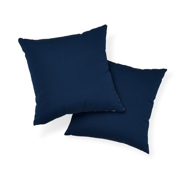Schumacher Schumacher Iconic Leopard Indoor/Outdoor Pillow in Navy For Sale - Image 4 of 7