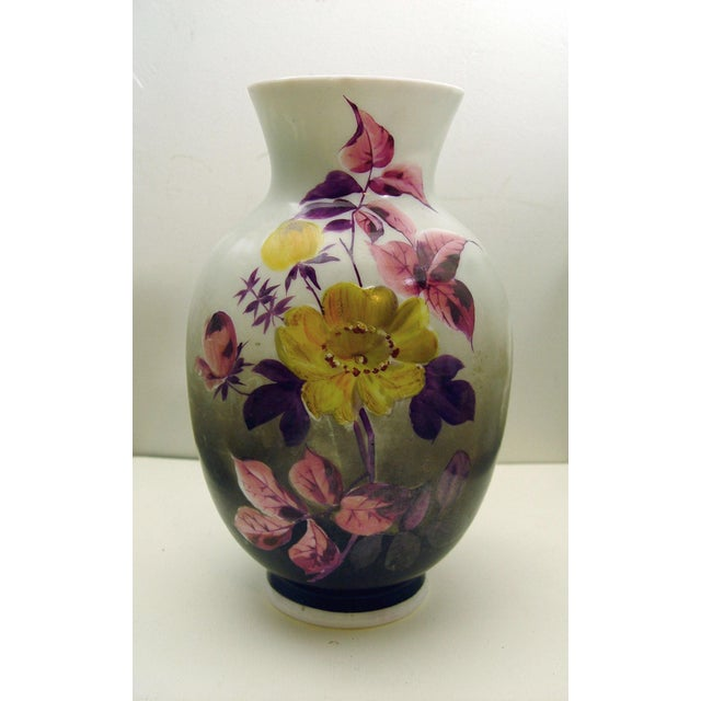 Hand Painted Bristol Glass Vase - Image 2 of 5