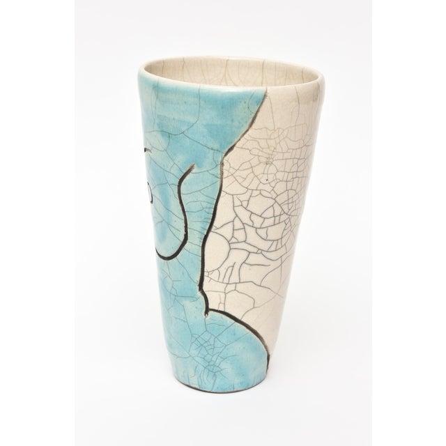 1970s Vintage Raku Ceramic Nude Vase, Signed For Sale - Image 5 of 11