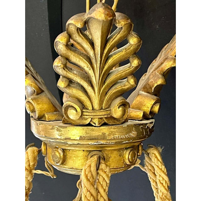 19th-20th Century Alabaster and Giltwood Chandelier For Sale - Image 12 of 13