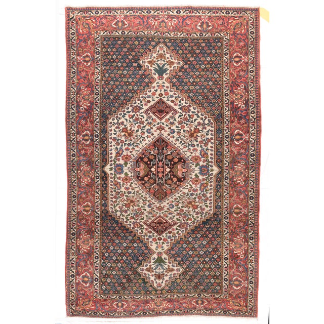 1910s Hand Knotted Persian Bakhtiyari Wool For Sale - Image 4 of 4