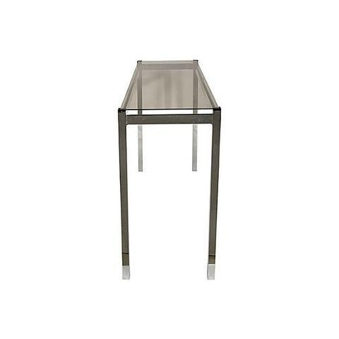 1970s Chrome Console Table For Sale - Image 4 of 6