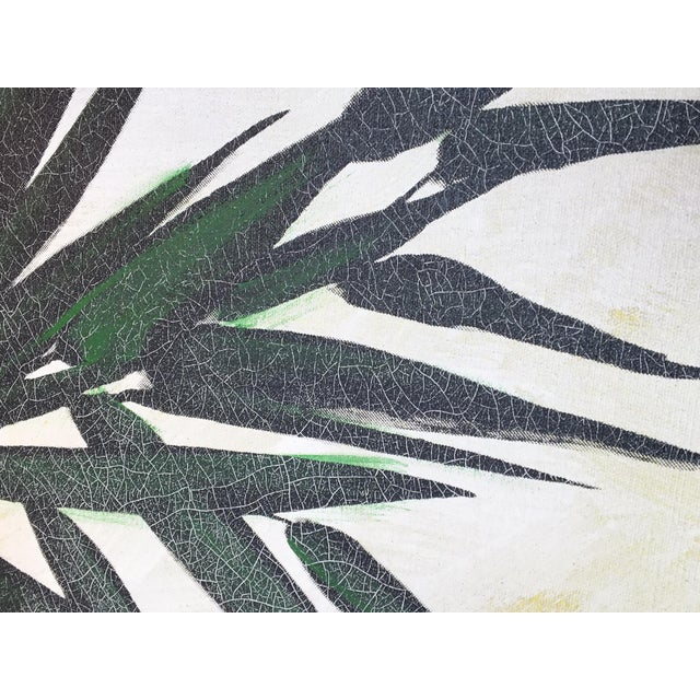 Large Framed Wing Lee Mid-Century Asian Bamboo Painting For Sale - Image 4 of 7