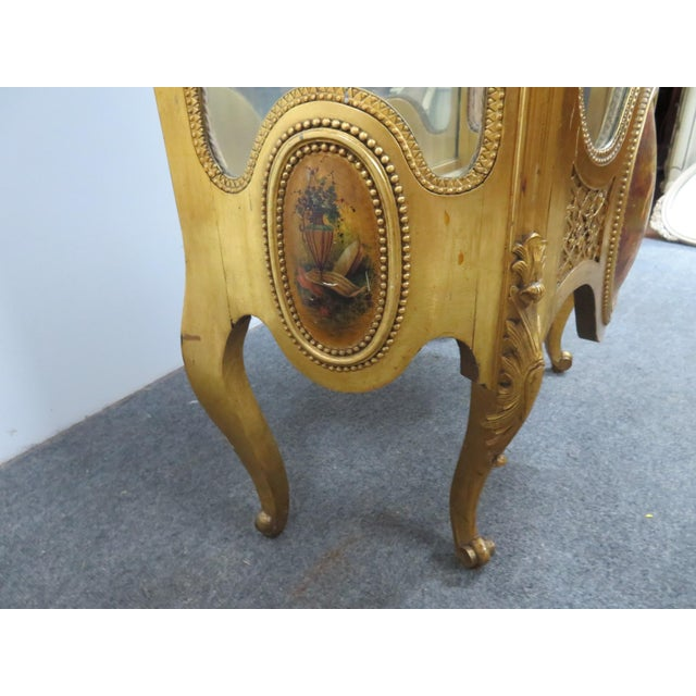 Late 19th Century Vernis Martin French Curio Cabinet For Sale - Image 5 of 10