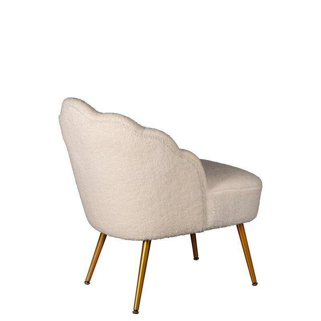 Contemporary Kayla Boucle White Side Chair For Sale - Image 3 of 5