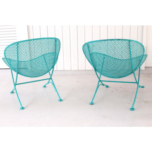 John Salterini 1960s Salterini Turquoise Clam Chairs - a Pair For Sale - Image 4 of 13