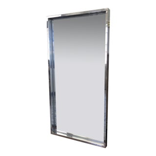 Vintage Mid Century Chrome Wall Mirror For Sale