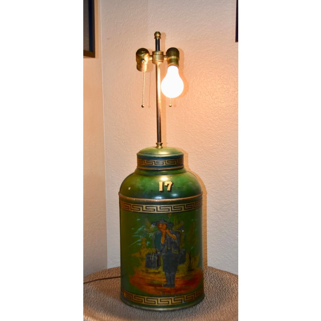 19th Century Chinoiserie English Tole Tea Canisters by Parnall & Sons Bristol Lamp For Sale - Image 5 of 13