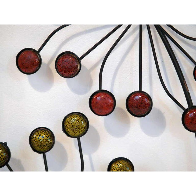 Beaded Floral Wall Sculpture - Image 6 of 8