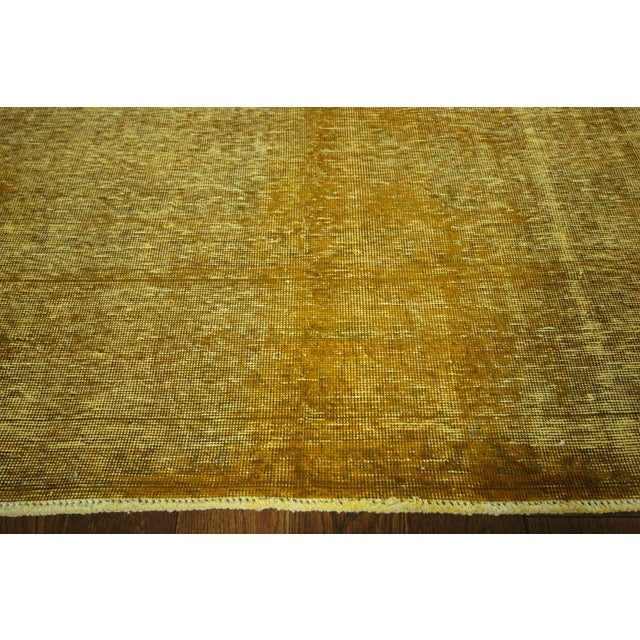 "Gold Wash Overdyed Tabriz Rug - 9' 6"" x 12' 5"" - Image 5 of 9"