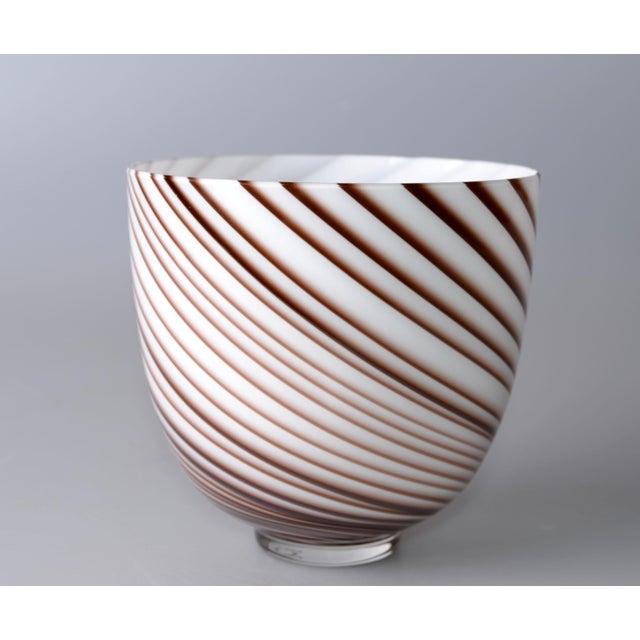 Italian Original Tommaso Barbi Italian Murano Decorative Bowl / Vase For Sale - Image 3 of 10