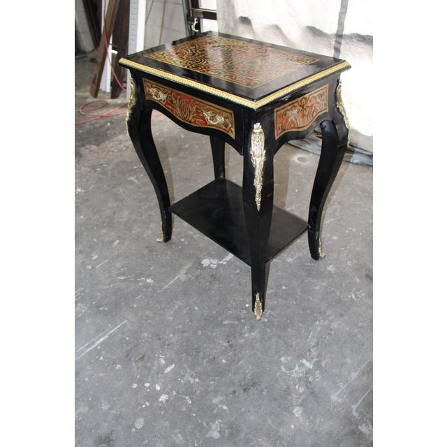 19th Century Art Noveau Boulle Occasional Tables - a Pair For Sale - Image 9 of 10