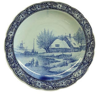 Plate Royal Sphinx Petrus Regout Blue Delft For Sale