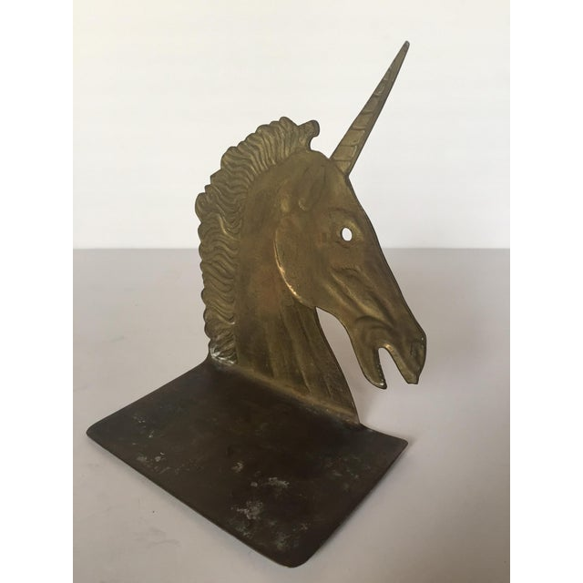 Vintage Brass Unicorn Bookend - Image 5 of 5