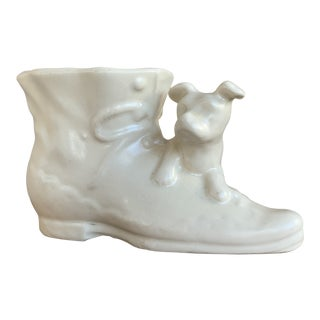 "1940s ""Puppy on Shoe"" Planter For Sale"