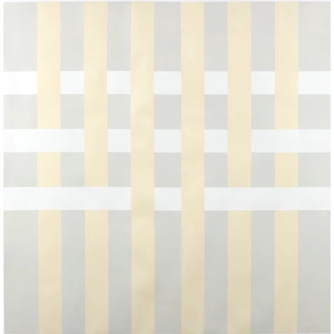 "Lucas Kelly Lucas Kelly ""Wop27"" Abstract Light Yellow Grey Painting on Paper For Sale - Image 4 of 4"