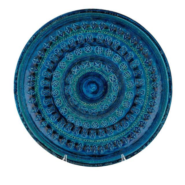 """Rimini Blu"" Ceramic Platter by Aldo Londi for Bitossi, Circa 1960s For Sale"