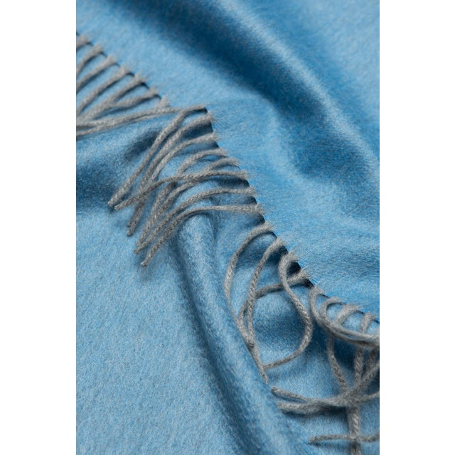 The Begg x Co Arran Cashmere Throw in Moonstone Blue is the ultimate homeware luxury, woven with 100% supersoft cashmere...
