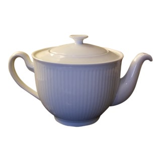 Royal Copenhagen White Coffee or Tea Lidded Pot For Sale