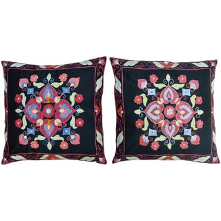 Boho-Chic Pillows- S/2 For Sale