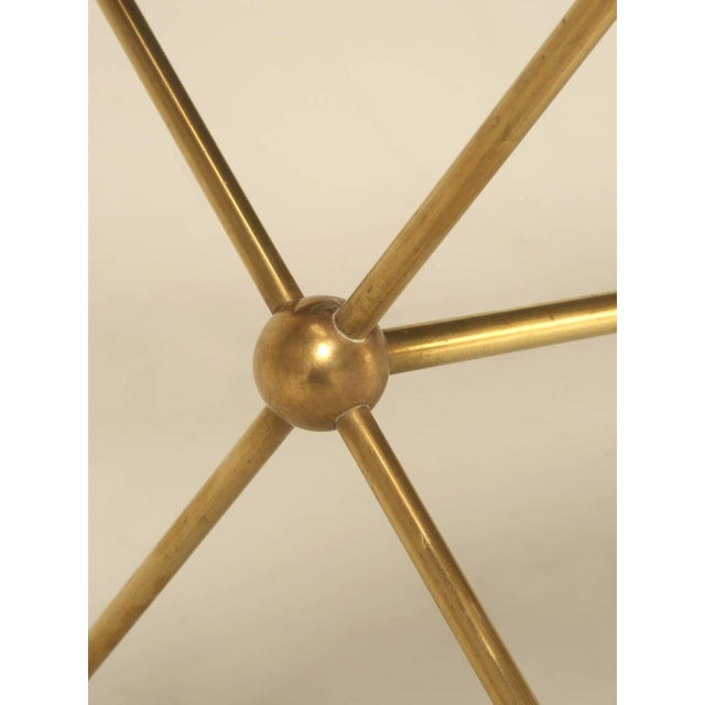 French Mid-Century Modern Coffee Table With Bronze Hoof Feet For Sale In Chicago - Image 6 of 9