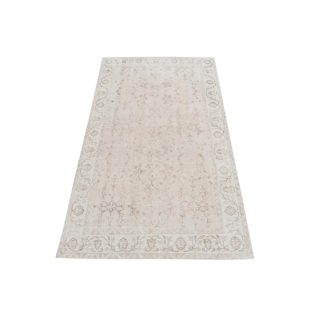 Vintage Turkish Hand Knotted Rug - 3′7″ × 6′6″ For Sale