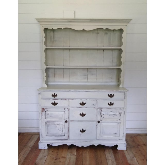 European Farmhouse Buffet With Hutch For Sale - Image 6 of 6