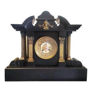 19th Century French Japy Freres Architectural Ormolu Mantel Clock For Sale
