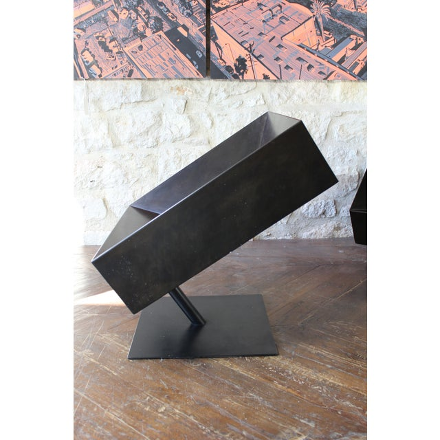 "Stephane Ducatteau ""Fauteuils Cadre"" Steel Framed Chair For Sale - Image 5 of 8"