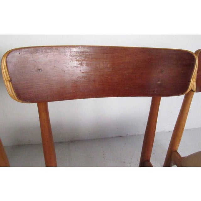 Mid-Century Modern Set of Mid-Century Modern Bentwood Dining Chairs For Sale - Image 3 of 9