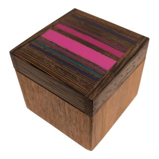 Robert McKeown Stamp Box with Stripes For Sale