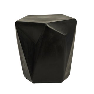 Kylo Black Concrete Side Table For Sale