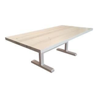 Contemporary Custom-Made Bleached Maple Dining Table For Sale
