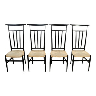 1970s Vintage Gio Ponti Style Dining Chair Piazza Originals- Set of 4 For Sale