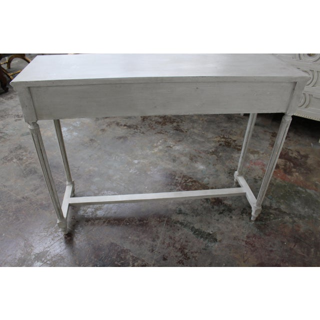 20th Century Vintage Swedish Gustavian Style Console Table For Sale In Atlanta - Image 6 of 8