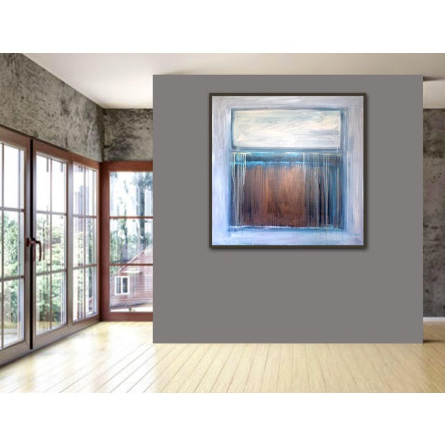 Blue 'TRAiL OF TEARS' Original Abstract Painting by Linnea Heide For Sale - Image 8 of 8