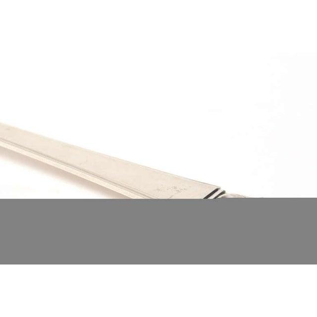 Sterling Silver Hallmarked Danish Frigast Large Serving Fork For Sale - Image 9 of 10