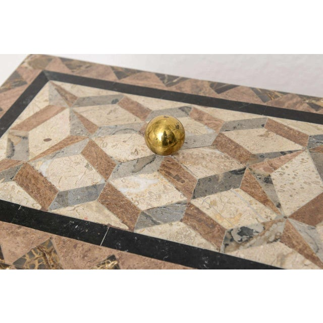English Regency Revival 1980s Tessellated Stone Box For Sale In West Palm - Image 6 of 11