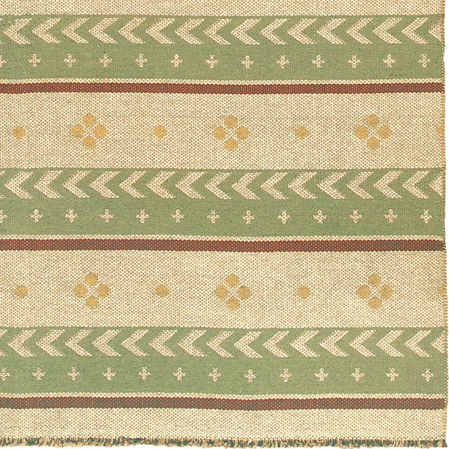 """Mid-Century Modern Mid 20th Century Two-Sided Flat Weave Rug - 5'3"""" X 7'9"""" For Sale - Image 3 of 7"""