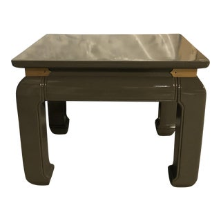 Gray Lacquered Ming Side Tables - A Pair