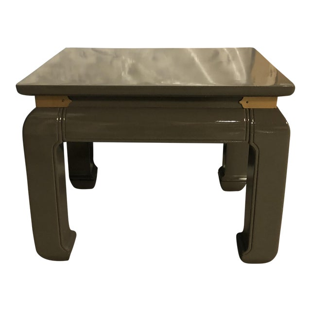 Gray Lacquered Ming Side Tables - A Pair For Sale