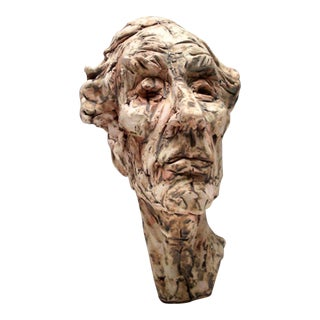 Sculpture by Chris Riccardo Terracotta With Under Glazes For Sale
